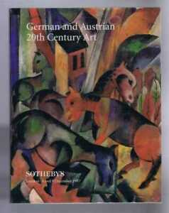 Art: German and Austrian 20th Century Art, Sotheby's, London, 8 and 9 Dec. 1997