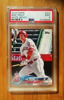 2018 Topps #300 MIKE TROUT Angels PSA 9 MINT