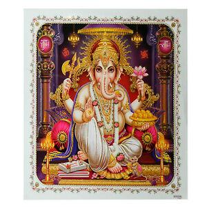 Imagen Ganesha 54 x 54cm hinduismo religión creencia lámina India espiritualidad
