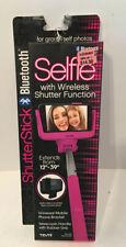 Tzumi Shutter Selfie Stick Bluetooth Wireless Shutter Function Hot Pink NISP NEW