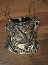 Silver Shimmery Vest By H & M Size Medium