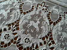 Antique Deer Pattern Embroidered Net Lace Curtain Fringe European 102 x 92