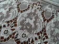 Antique European Embroidered Net Schiffli Lace FIGURAL DEER Sheer Panel 102 x 92