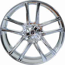 Set of 4 GWG Wheels 17 inch Chrome ZERO 17x7.5 Rims fits 5x108 ET40 CB74.1