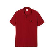 41b2c82762d75f Lacoste Classic Pique Polo Shirt (bordeaux) Men's Short Sleeve Knit