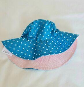 Carter's Girls Sun Hat  2-4 Years  - Reversible  -  NEW
