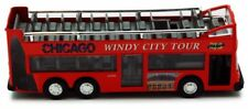 Chicago Sightseeing Double Decker Bus Open Top Red 6 Inch Scale Model Diecast