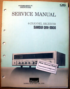 Original Paper Service Manual  for Sansui QRX-3000 !