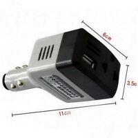 Car Mobile Converter Inverter DC 12V/24V to AC 220V Charger Power+USB Q9