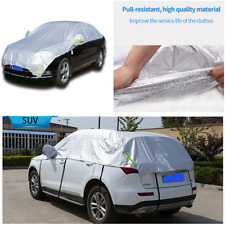PE film+cotton Wool Half Car Cover Fitted Outdoor Water Proof Rain Snow Sun Dust
