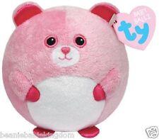 """Ty Baby Ball * rosado * 4 """"de felpa suave de timbre de bebé Ballz"""