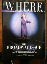 Bernadette Peters magazine Where Magazine June 2003 Gypsy New York Hello Dolly