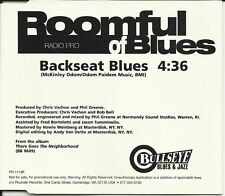 ROOMFUL OF BLUES Backseat Blues PROMO DJ CD single 1998