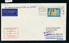 61750) LH FF stuttgart-New York 28.4.64, carta a partir de Países Bajos