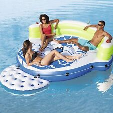 CoolerZ Kick Back 5 Person Lounge Float Island with Anchor / Cooler Bag - NEW