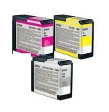 3 x Original Tinte Epson Stylus Pro 3880 / T5804 T5807 T580B INK Cartridges