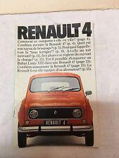 ancien catalogue Renault 4 L et TL