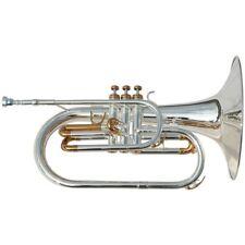 Karl Glaser Marching Mellophon 850L, F Stimmung, Koffer, Mellofon versilbert Neu