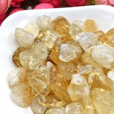 50g Citrine Quartz Crystal Stone Rock Chips Polished Gravel DIY Supply Decor