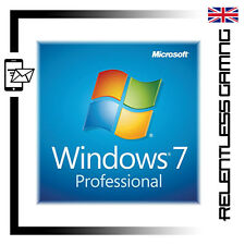 WINDOWS 7 PRO KEY 32 / 64 BIT GENUINE MICROSOFT PRODUCT SERIAL CODE - INSTANT!
