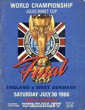 More details for 1966 world cup final england v west germany original football programme