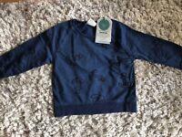 Zara Anchor Print Sweatshirt Bnwt 18-24 Months