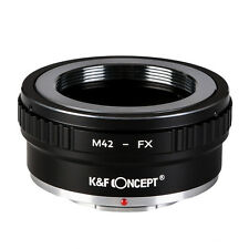 M42-FX Ⅱ Copper Adapter Ring for M42 Mount Lenses to Fujifilm Camera K&F CONCEPT