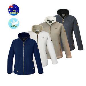 Ladies Women's Full Zip Fleece Jacket Warm Coat soft Sherpa Casual Jacket