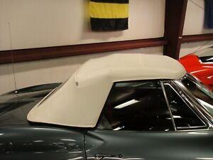 1963-67 Corvette Convertible Top Kit White, New Al Knoch