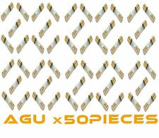50 PCS 50 AMP AGU GOLD PLATED FUSES 50 AMP ROUND GLASS FUSES - SHIPS TODAY!