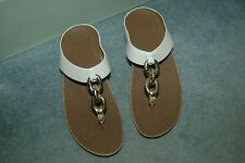 FITFLOP GOLD CHAIN WHITE WOMAN LADIES SANDAL
