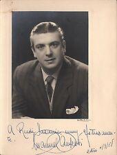 MANUEL AUSENSI - Spanish Baritone - Original Handsigned B/W Photograph - 1958