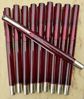 10 VINTAGE TRANSLUCENT RED PARKER VECTOR FOUNTAIN PENS(includes 2 packs of ink)
