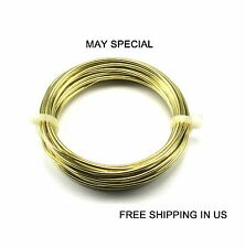 14 Ga Brass Round Wire ( 15 FT- DEAD SOFT ) It's IDEAL For HOBBY- JEWELRY-CRAFT