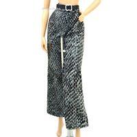 Barbie Fashion Animal Print Trousers Black Faux Leather Belt