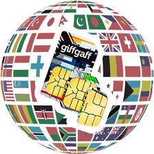 Prepaid sim card giffgaff uk £ 5 balance free shipping iphone x note 8 s9 s8 s7