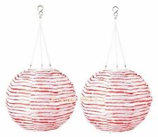 """NEW IKEA 2 PACK SOLVINDEN SOLAR POWERED DECORATIONS LIGHTS GLOBE WHITE,RED 12"""""""