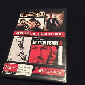 DOUBLE FEATURE Rock N Rolla / American History X DVD (( Near Mint )) Free Post