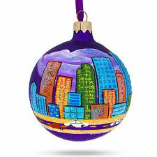 Denver, Colorado Glass Christmas Ornament
