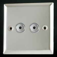 VARILIGHT 2 Gang V-pro IR 100w Remote LED Chrome Master Dimmer Switch IJCI102