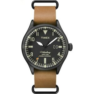 Timex Mens Heritage Tan Leather Strap Waterbury Watch TW2P64700