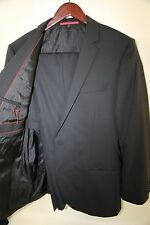 #112 Hugo Boss Amaro Heise Red Label Black Suit Size 42 R