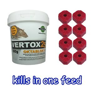 Rat and Mouse Killer Poison 300g Bait Blocks Single Feed - Strongest Rat Poison