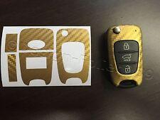 Carbon Gold Folie Schlüssel KIA Sportage Sorento Picanto SW Venga Soul Ceed Rio