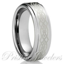 Celtic Irish Knots Tungsten Carbide Gold Men Wedding Band Promise Ring SZ 6-13