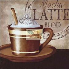 REPRINT PICTURE of coffee print HOUSE MOCHA LATTE BLEND 7x7