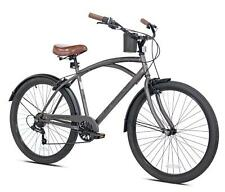 "NEW 26"" Mens Kent Bayside 7 Speed Bicycle Shimano Steel Frame Hot Rod Cruiser"