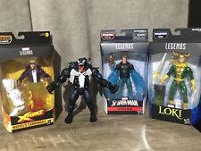 Marvel Legends Lot Of 4 Loki, Hydro Man, Venom, Cannonball