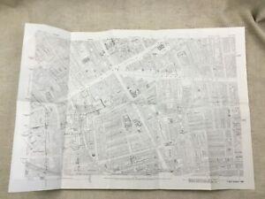 Antique London Map City Streets Aldgate Victorian England 1873