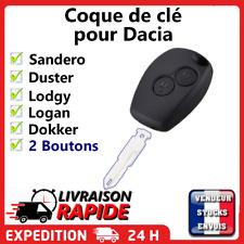 Coque clé plip pour Dacia  Sandero Duster Lodgy Logan Dokker 2 boutons